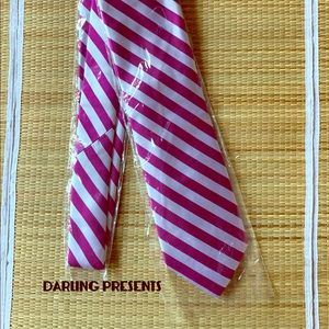 'THE TIE BAR' BURGUNDY STRIPED TIE